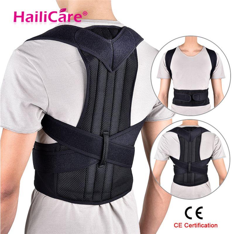 Correcteur de posture de dos Épaule Lombaire Brace Colonne Vertébrale ceinture de soutien Réglable Adulte Corset ceinture de correction de posture Soins de Santé Du Corps
