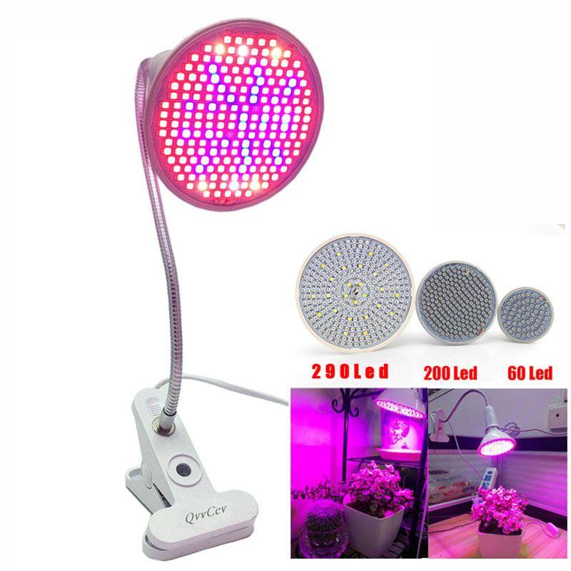 60 126 200 Led Grow Light bulb 360 Flexible Lamp Holder Clip for <font><b>Plant</b></font> Flower vegetable Growing Indoor greenhouse hydroponics