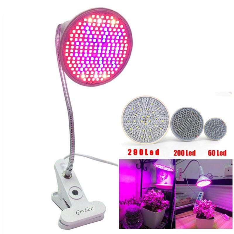 60 126 200 Led Grow Light bulb 360 <font><b>Flexible</b></font> Lamp Holder Clip for Plant Flower vegetable Growing Indoor greenhouse hydroponics