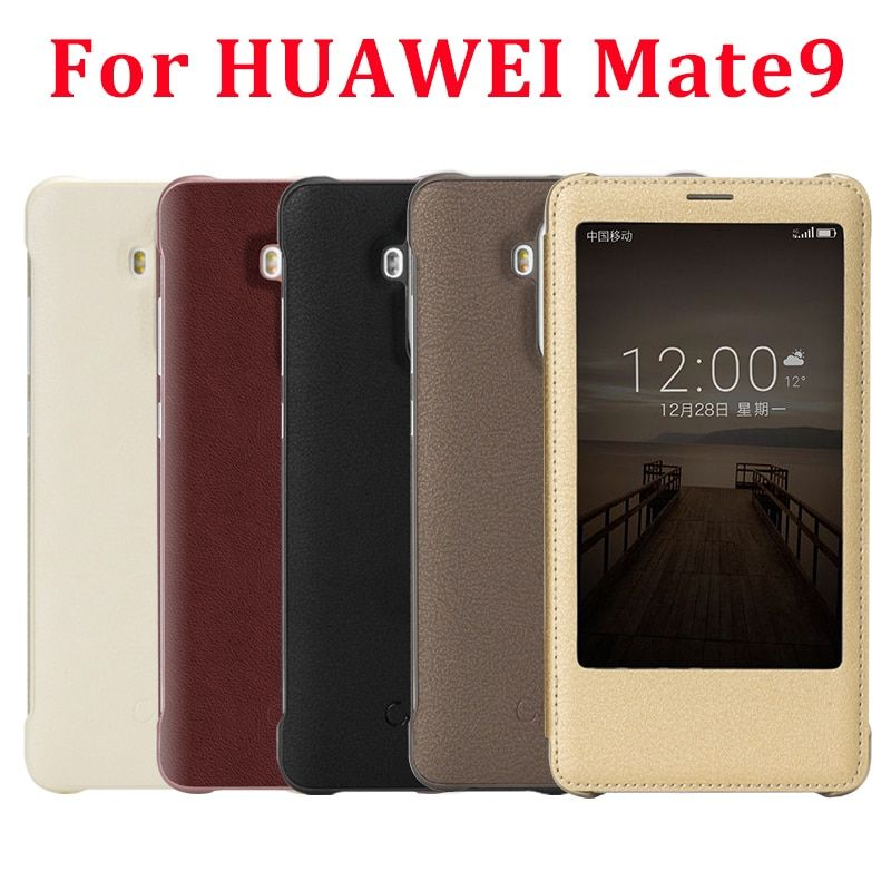 Cenmaso Original Cover For Huawei Mate 9 Case Luxury PU Leather Flip Cases For Huawei Mate9 View Smart Window Phone Shell Capa