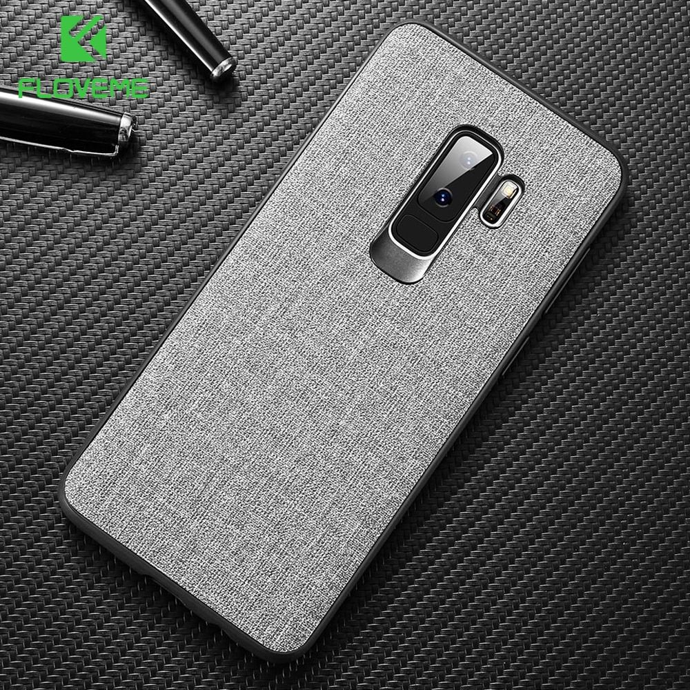 FLOVEME Cloth Case For Samsung S8 S9 Galaxy S9 S8 Plus Luxury TPU Cover For Samsung S10 Plus S10e Note 9 8 S7 Edge Coque