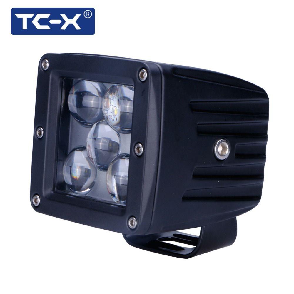 TC-X 5D LED Spot PTF tumanki lumière pour Auto 6000 k longue Distance 12/24 V véhicule SUV moto offroad camion travail lumière externe