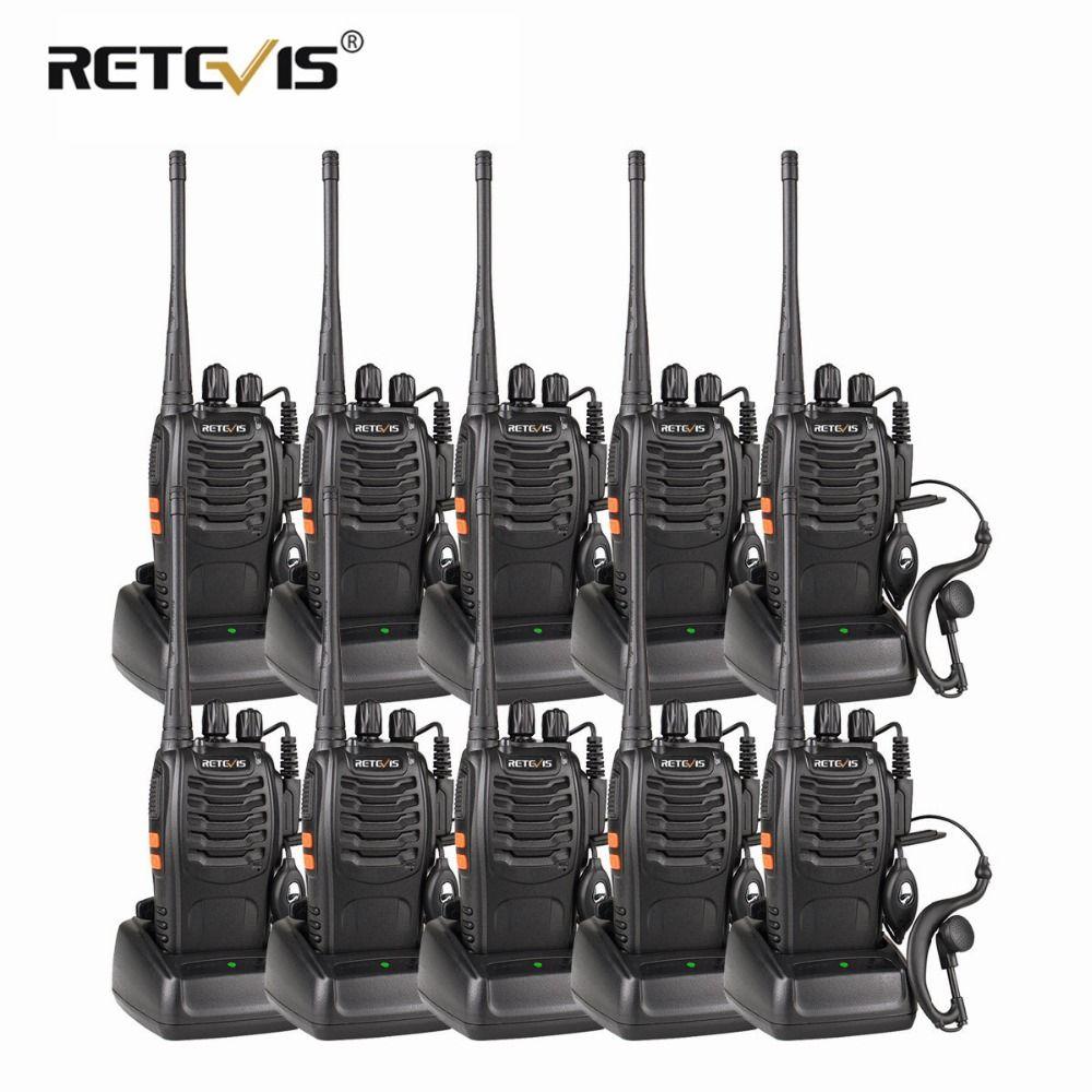 10 pcs Pas Cher En Gros Talkie Walkie Set Retevis H777/H-777 3 w UHF lampe de Poche CTCSS/DCS Numérisation Deux voies Radio Hf Émetteur-Récepteur