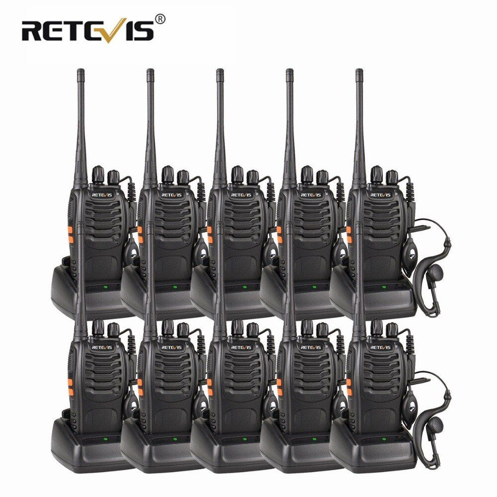 10pcs Cheap Wholesale Walkie Talkie Set Retevis H777/H-777 3W UHF Flashlight CTCSS/DCS Scan Two Way Radio Station Hf Transceiver