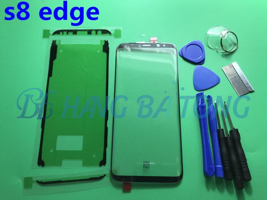 Original Ersatz Externe Glass für Samsung Galaxy S8 G950 G950F 5,8 ''LCD Display Touchscreen Frontglas Externe Objektiv