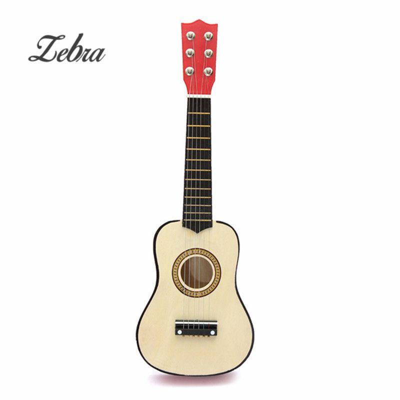 Zebra 21 inch Wooden 6 Strings Musical Instrument Acoustic Guitar Guitarra Ukulele for Beginner Kids+Guitar pick+Wire string