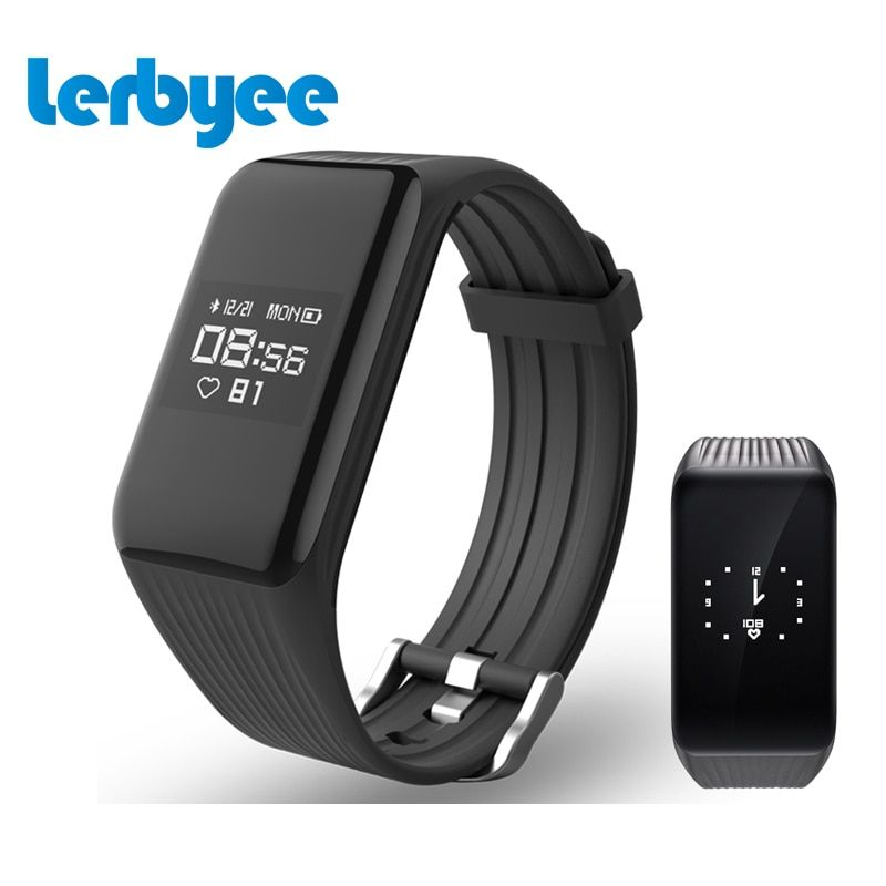 Lerbyee Fitness Tracker Smart Bracelet Real-time HR Fitness Bracelet Sleep Tracker Waterproof Activity Tracker for Android