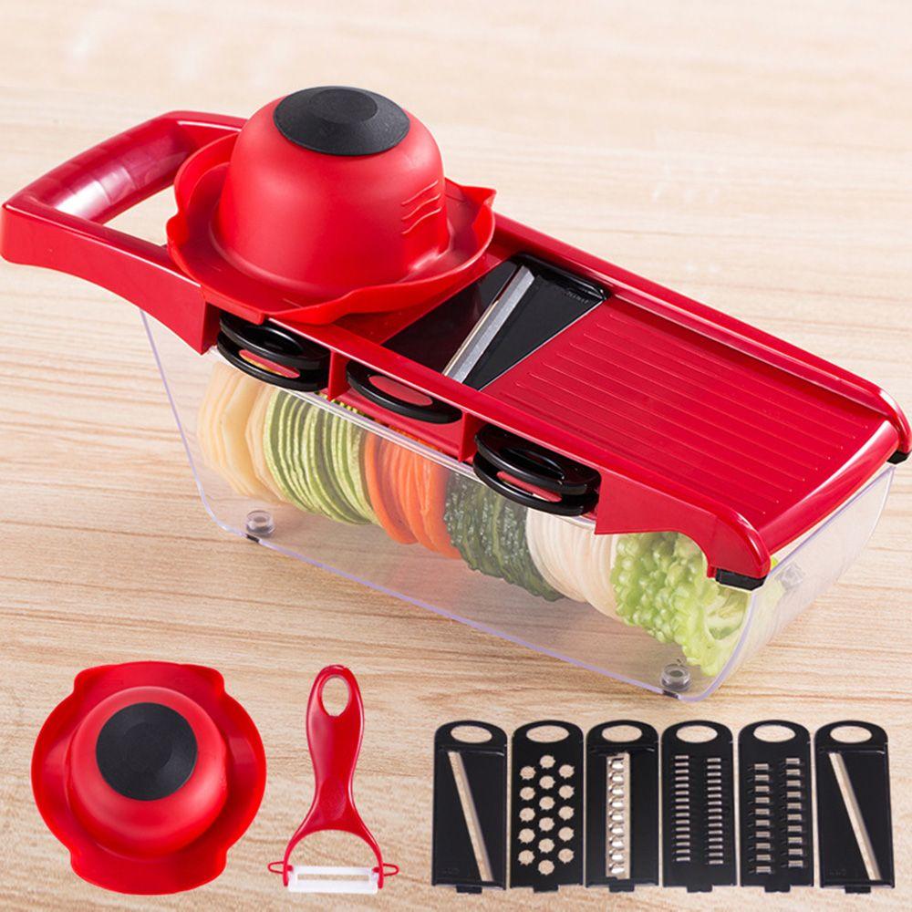 Multifonction rapide fait Mandoline trancheuse coupe-légumes lame en acier inoxydable manuel pomme de terre oignon éplucheur carotte râpe Dicer