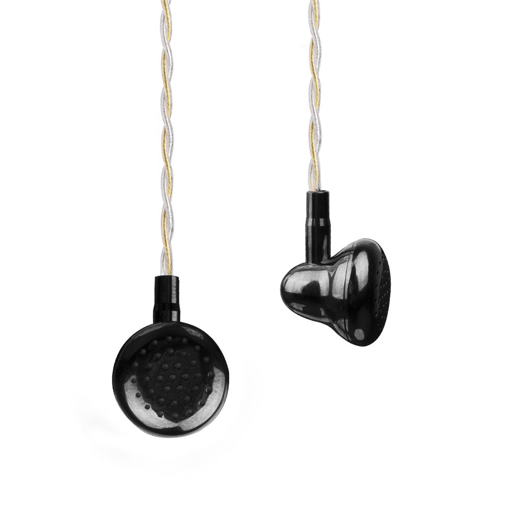 AK Newest K's Earphone Black Ling Brass Cavirt Metal Earbud HIFI Fever DJ Bass Earphone 14.5mm Dynamic Driver Earbuds With Mic