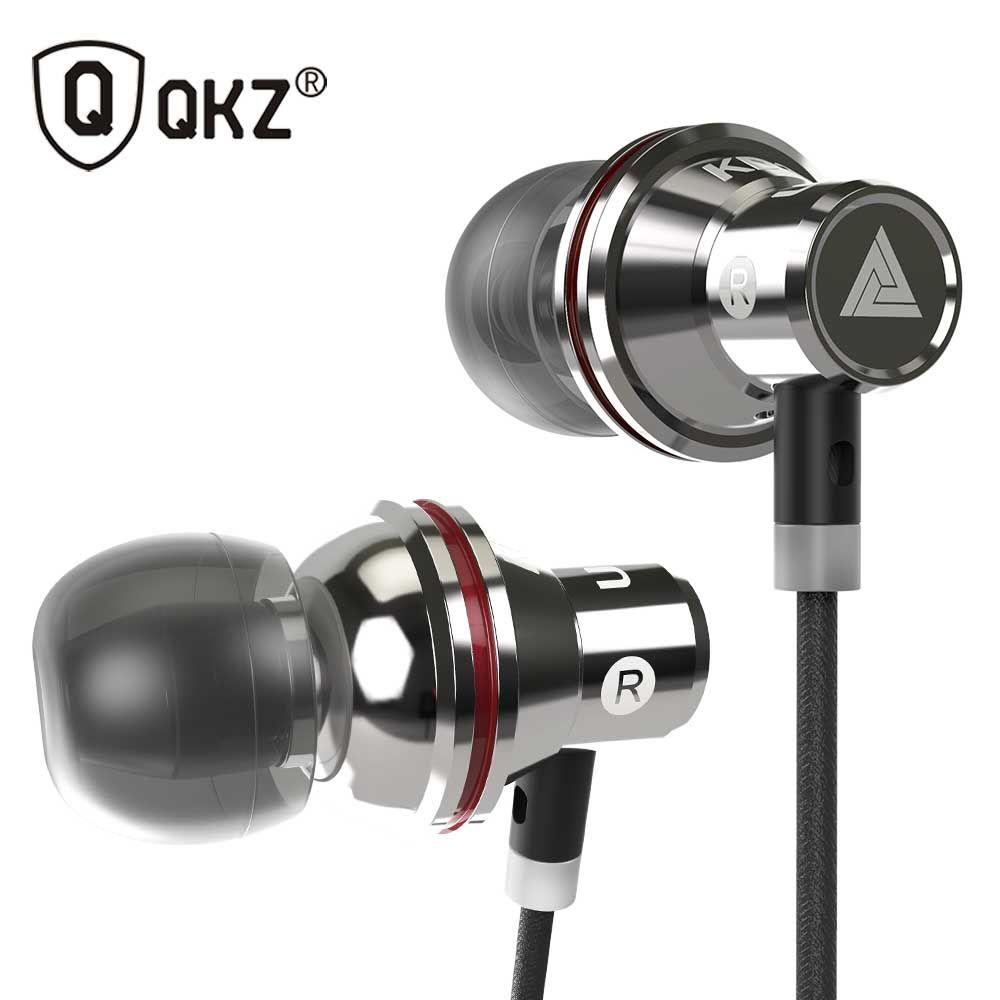 Original QKZ KD3 UFO In Ear Earphones Metal Earphone Headset Super Bass Stereo Headfree For Phone Apple iPhone Xiaomi earpods