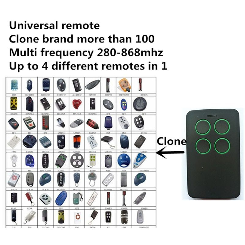 Free Shipping universal Multi frequency 280-868mhz rolling code fixed code remote control duplicator keyfob Clone controller