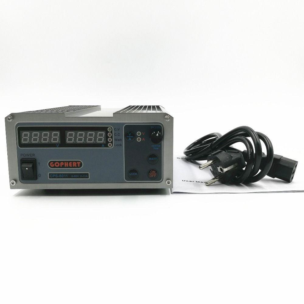 CPS-6011 60 V 11A Präzision PFC Kompakte Digital Einstellbare DC Stromversorgung Labor Stromversorgung