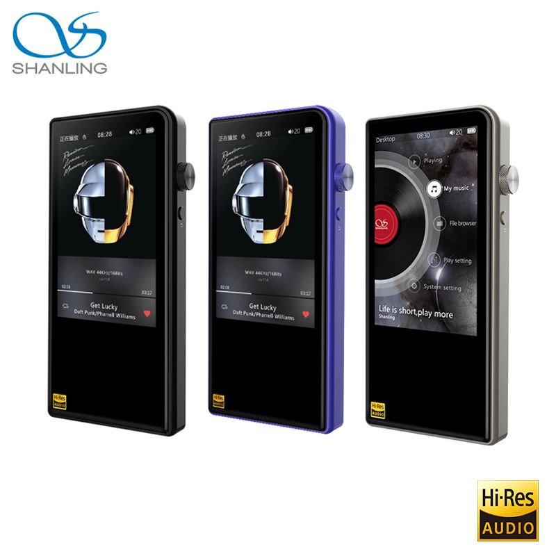 Shanling M3S Bluetooth 4.1 Apt-X Lossless Portable Music MP3 Player Retina DOP DSD256 Hi-Res Audio Balanced Out PO/LO Hiby Link