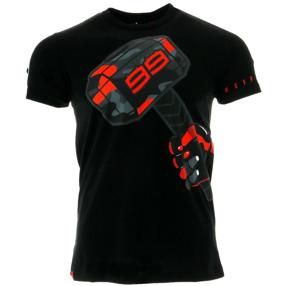 2018 Jorge Lorenzo 99 Moto GP Hammer Motor Sports Summer Men's T-shirt Black