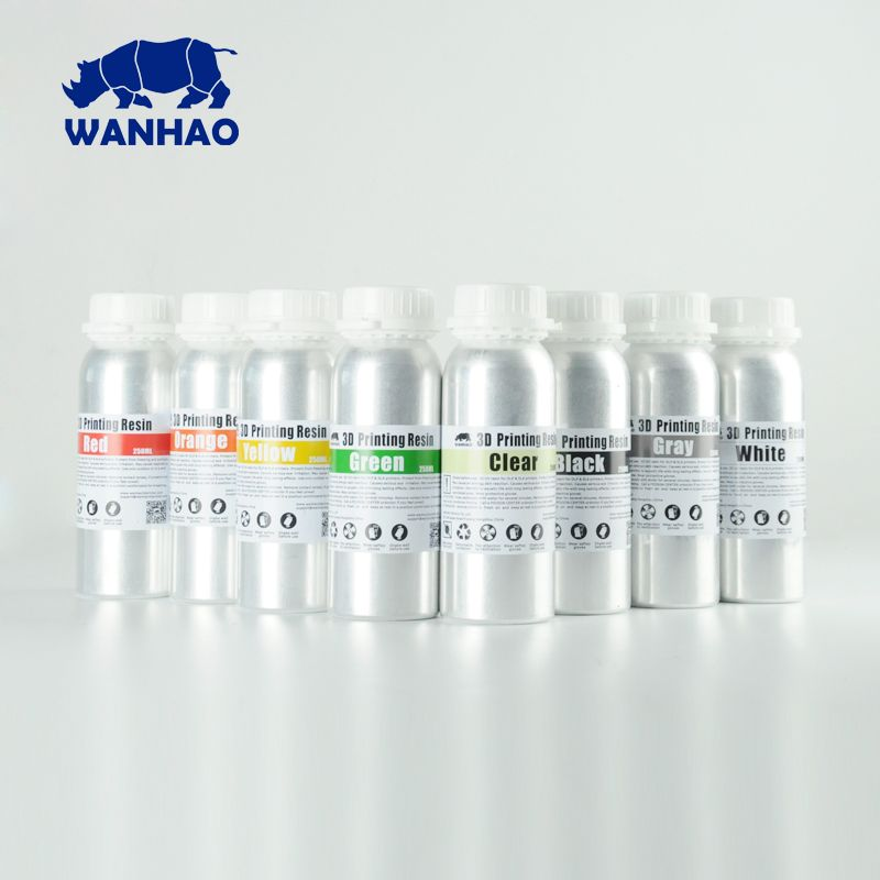 Günstige und hohe qualität 405NM WANHAO Neue verpackung DLP Drucker Harz SLA 3D Drucker Harz, Zwei liter für verkauf