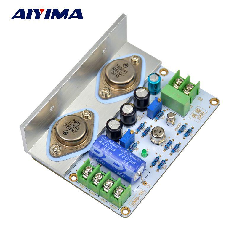 AIYIMA 1 pièces 1969 classe A carte amplificateur de puissance 10-15W HiFi Audio Amplificador MOT/2N3055 PCB assemblé carte et Kits de bricolage