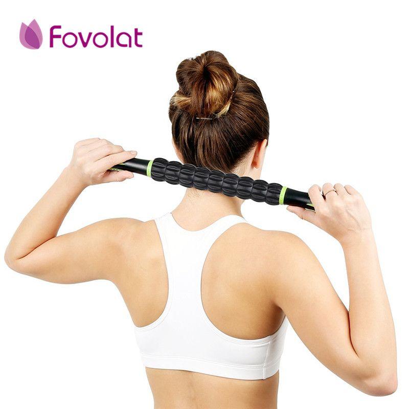 Pro pratique sport Gym masseur Yoga rouleau bâton Point de déclenchement corps Muscle Massage Relax tiges Crossfit Fitness récupération outil