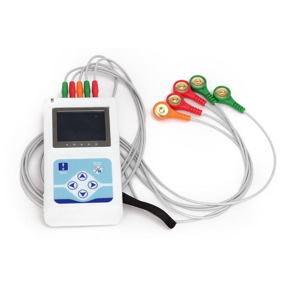 New Arrival 24 hours 3 Channel 12-lead ECG/EKG Holter Monitor System TLC9803,CONTEC MACHINE