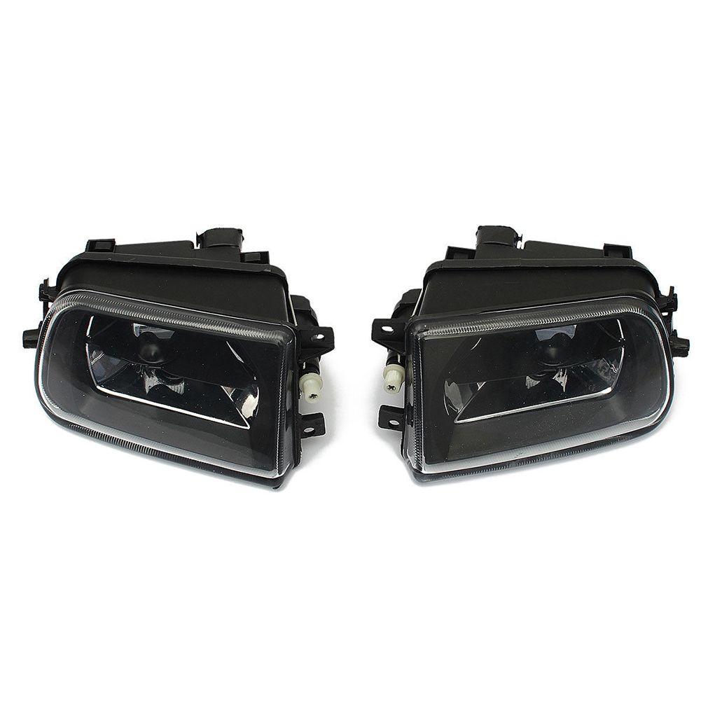 2x Front Driving Bumper Fog Light Lamp For BMW E39 528i 540i Z3 1997-2000 Black