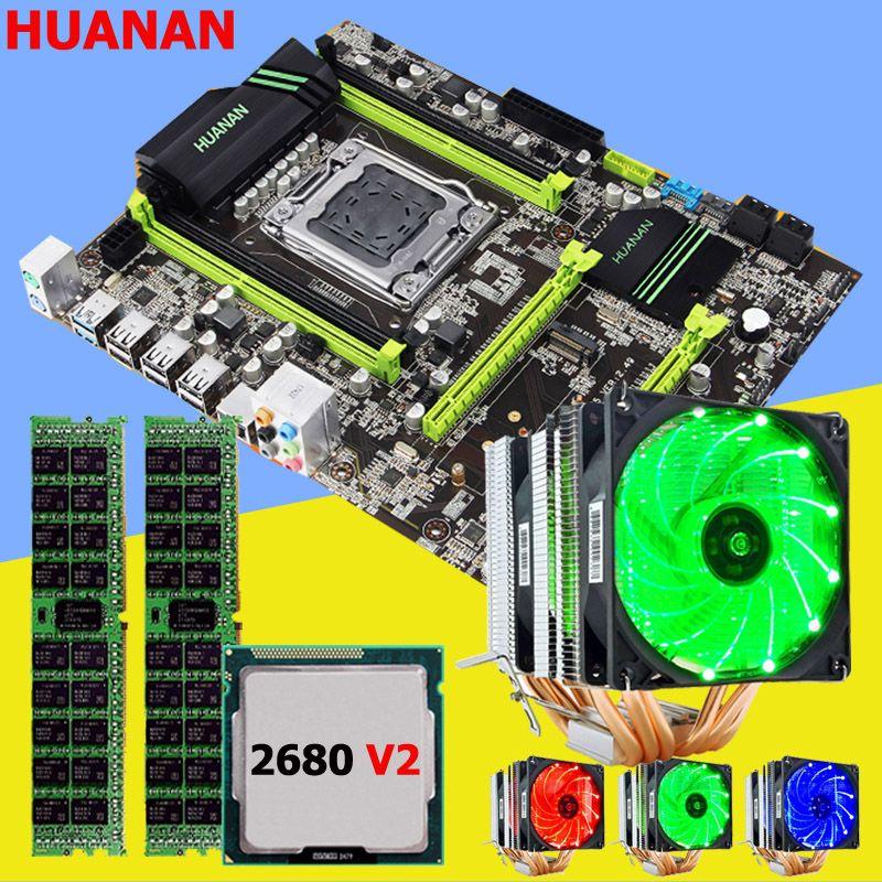 Rabatt motherboard set marke neue HUANAN ZHI X79 motherboard mit M.2 slot CPU Intel Xeon E5 2680 V2 RAM 16G (2*8G) 1600 RECC