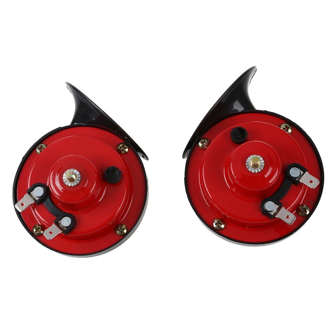 Universal 1 Sets All 12V Car Air Horm Loud Car Dual-tone Snail Electric Siren on Car Special Signals Car Styling Red