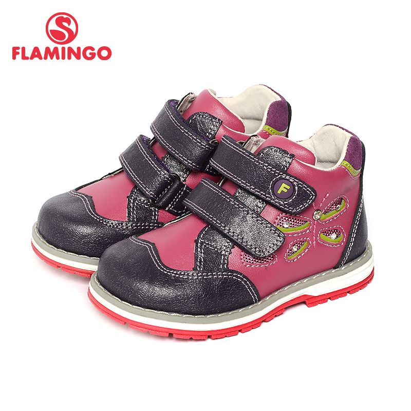 FLAMINGO 2017 New Arrival Spring & Autumn fashion kids boots high quality anti-slip kids shoes for girls 71B-XY-0125