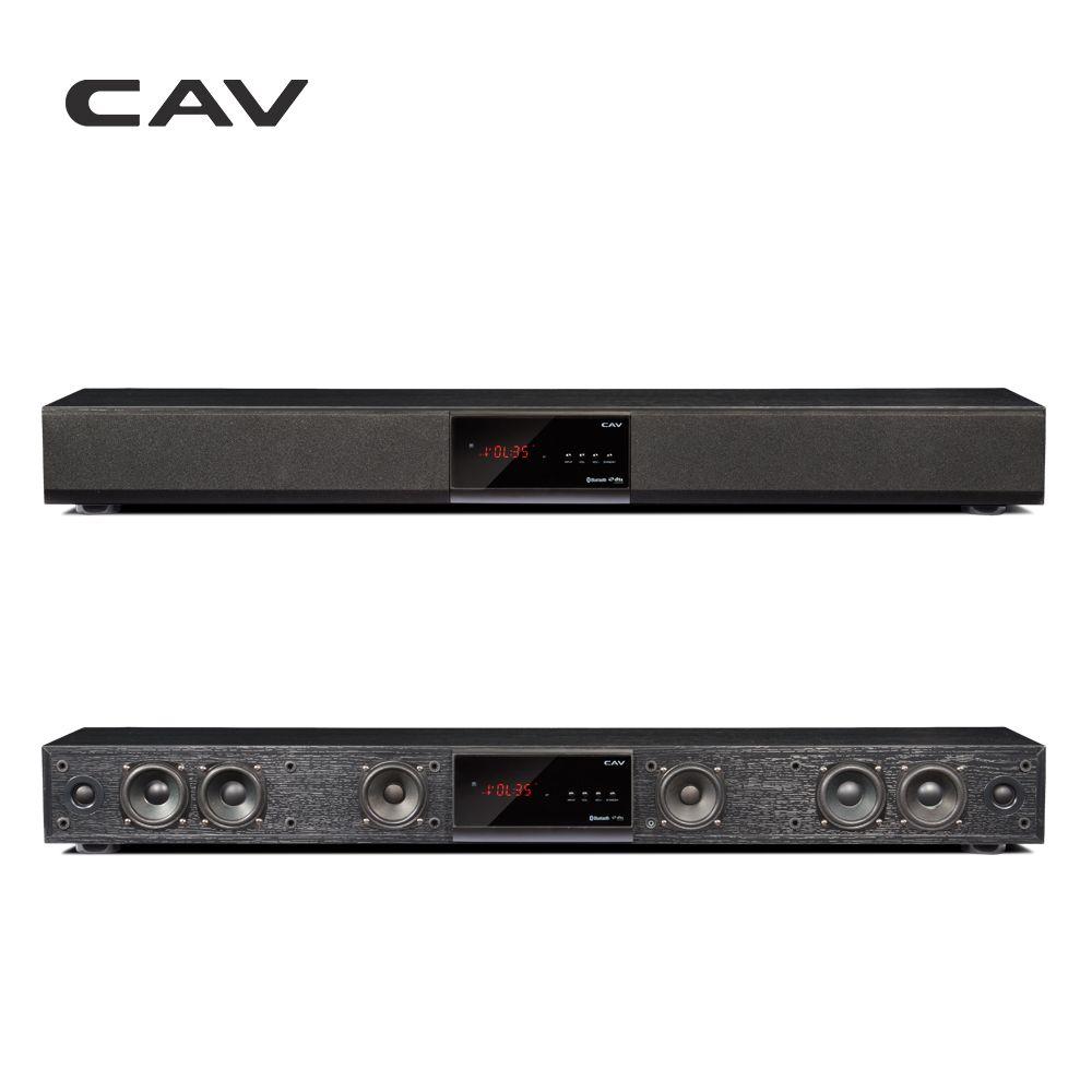 CAV Bluetooth Soundbar 3.1 Canal TV Haut-Parleur En Bois Filaire Double Basse Colonne Barre de Son Home Cinéma Système 10 Haut-Parleur Unités