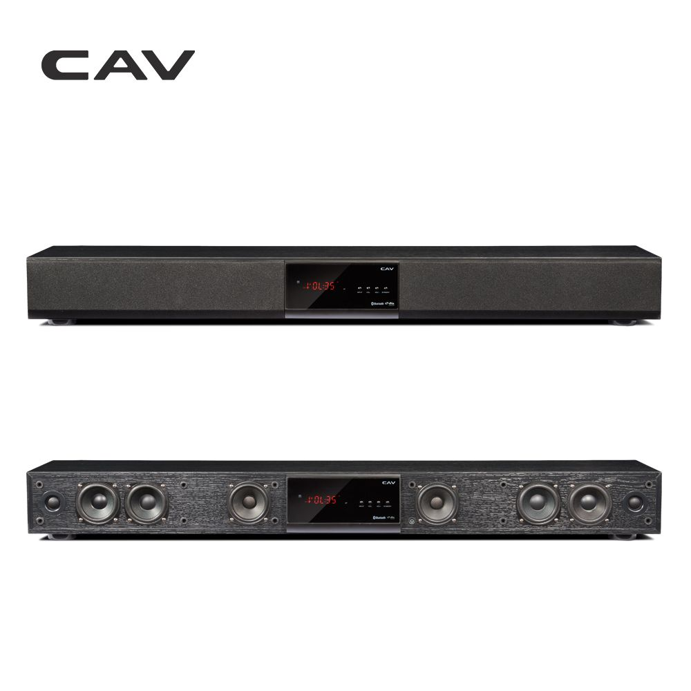 CAV Bluetooth Soundbar 3.1 Channel TV Speaker Wooden Wired Dual Bass Column Sound Bar Home Theater System 10 Speaker Units