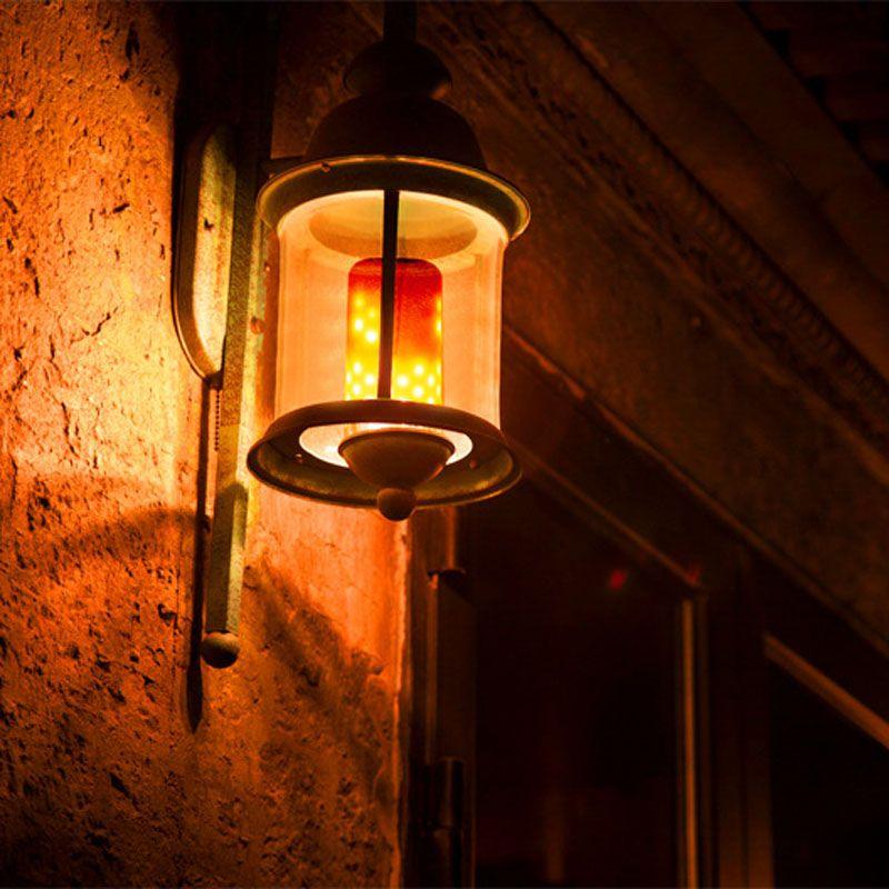E27 E26 E14 B22 E12 LED Flame Light Flicker Lamp Bulb Fire Effect 99SMD 5W Party Decor Light ALI88