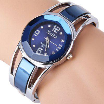 Marca de moda Vestido de Pulsera de Las Señoras Relojes de Diamantes para Las Mujeres De acero Inoxidable Relojes de Cuarzo Relogio Feminino