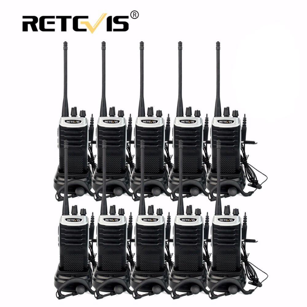 10 pcs Retevis RT7 Hotel/Restaurant Handy Walkie Talkie Set 5W 16CH UHF FM Radio(88-105MHz) cb Radio Comunicador Hf Transceiver