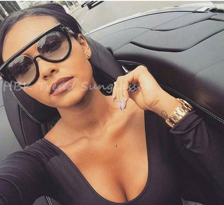 Mode clair plat Top qualité chaud carré lunettes de soleil hommes femmes marque de luxe conception dame lunettes de soleil Super étoile lunettes élégant