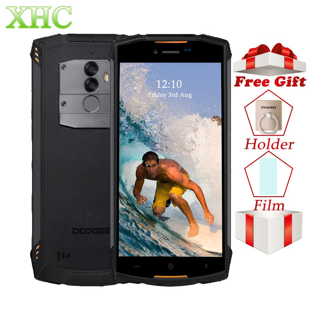 IP68 Waterproof DOOGEE S55 Lite 5.5inch Mobile phone Android 8.1 MTK6739 Octa Core 2GB 16GB 13MP Fingerprint Dual SIM Smartphone