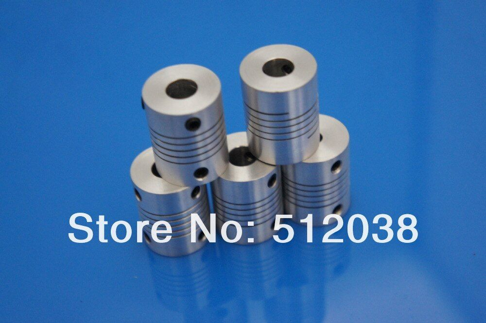 50pcs/lot  6.35mm to 8mm cnc Motor  shaft coupling , 6.35*8 mm Flexible  Coupler