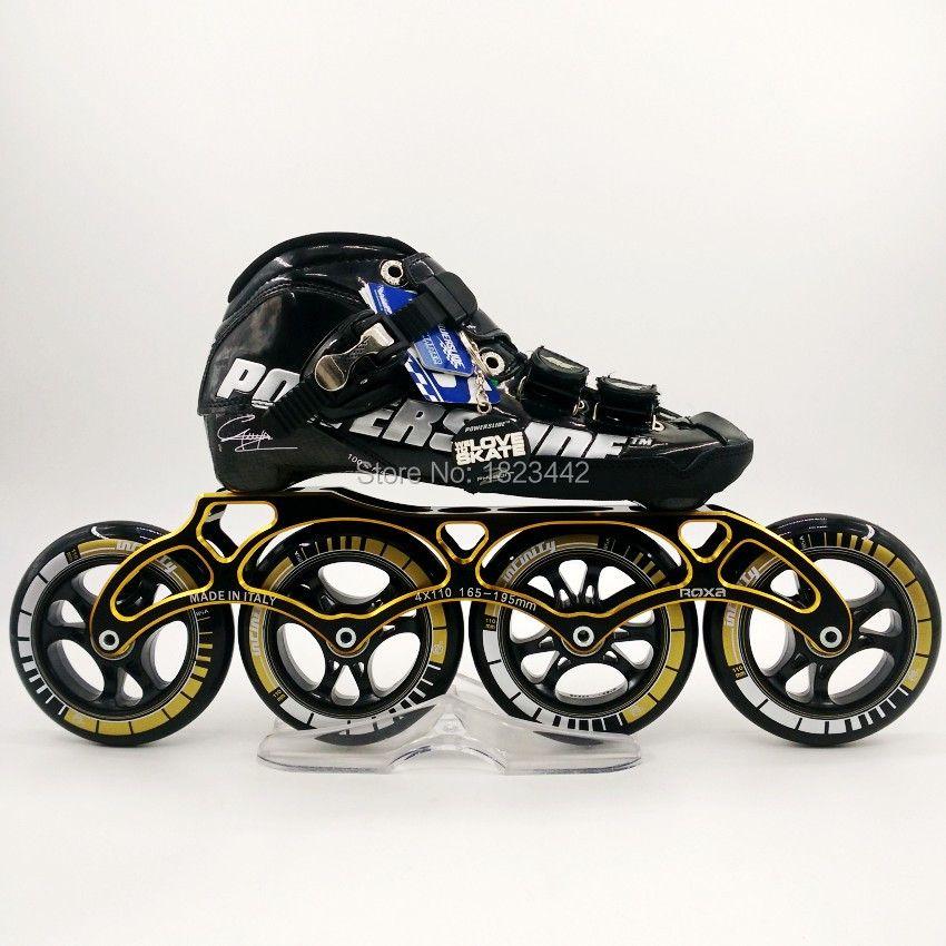 Powerslide C6 chaussures de patinage à roues alignées professionnelle enfants adultes vitesse patins de patinage quatre séries de patins à roues alignées