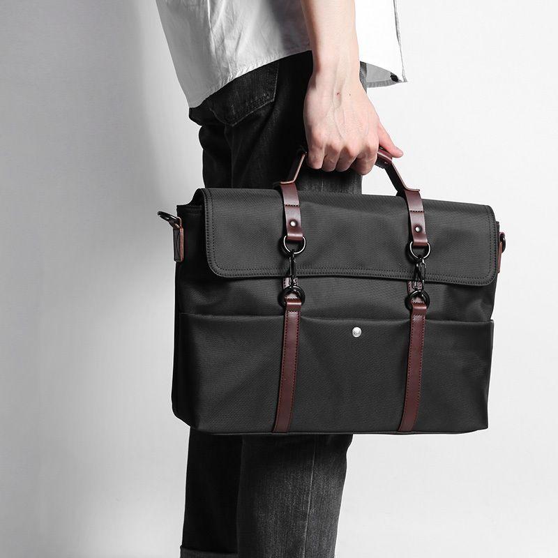 D-парк Портативный KUMON Водонепроницаемый ноутбука Портфели модные Бизнес Для мужчин Сумки сумка Для Мужчин's Дорожные сумки