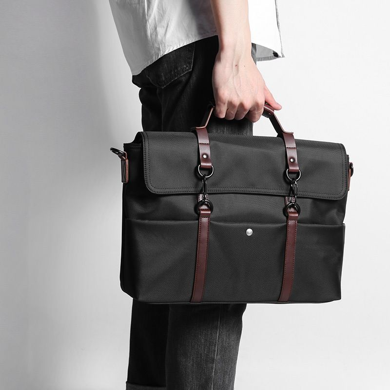 D-park Portable KUMON Waterproof Laptop Briefcase Fashion Business Men Handbags Crossbody Bag Men's Travel Bags