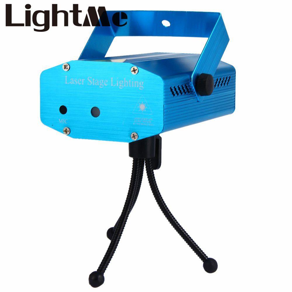 Una calidad de Voz de Control Automático LED Puntero Láser Modelo Partido Proyector de Iluminación Del Disco Luz de La Etapa Espectáculo de Láser Proyector Luces