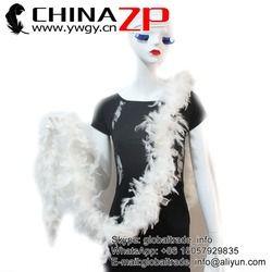 CHINAZP Bonne Qualité 40g 10 mètres/lot Off Blanc Plume de La Turquie Chandelle Boa
