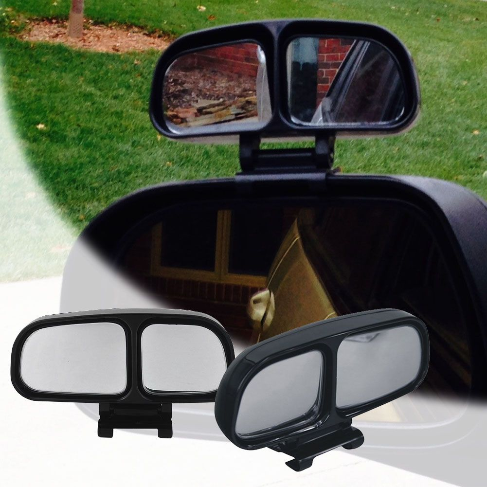 Car Styling Blind Spot Mirror Left Side Rear View 360 Degrees Adjustable Dual Mirrors Wide Angle For Car Truck High Quality