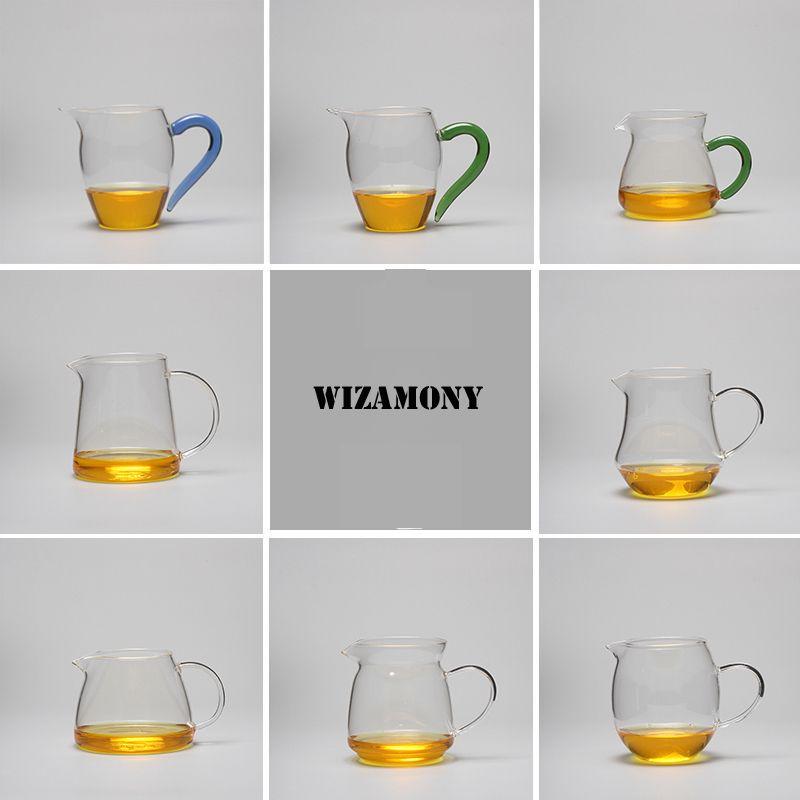 WIZAMONY offre spéciale!!!!!!!!!!!! Thé set théière résistant à la chaleur verre thé pichet juste tasse Cha hai Gongdao tasse capacité 400 ml
