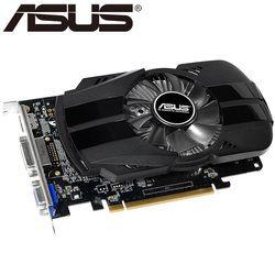 ASUS Kartu Grafis Asli GTX 750 1 GB 128Bit GDDR5 Kartu Video untuk NVIDIA GeForce GTX750 DVI Digunakan VGA Card lebih Kuat dari 650