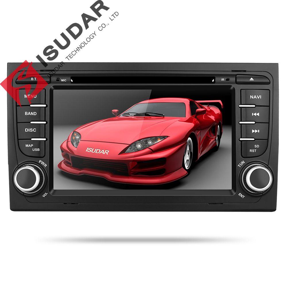 Isudar Car Multimedia System Android 8.1 2 Din Car DVD Player For Audi/A4/S4 2002-2008 GPS Radio FM DAB USB DVR DSP Rockchip
