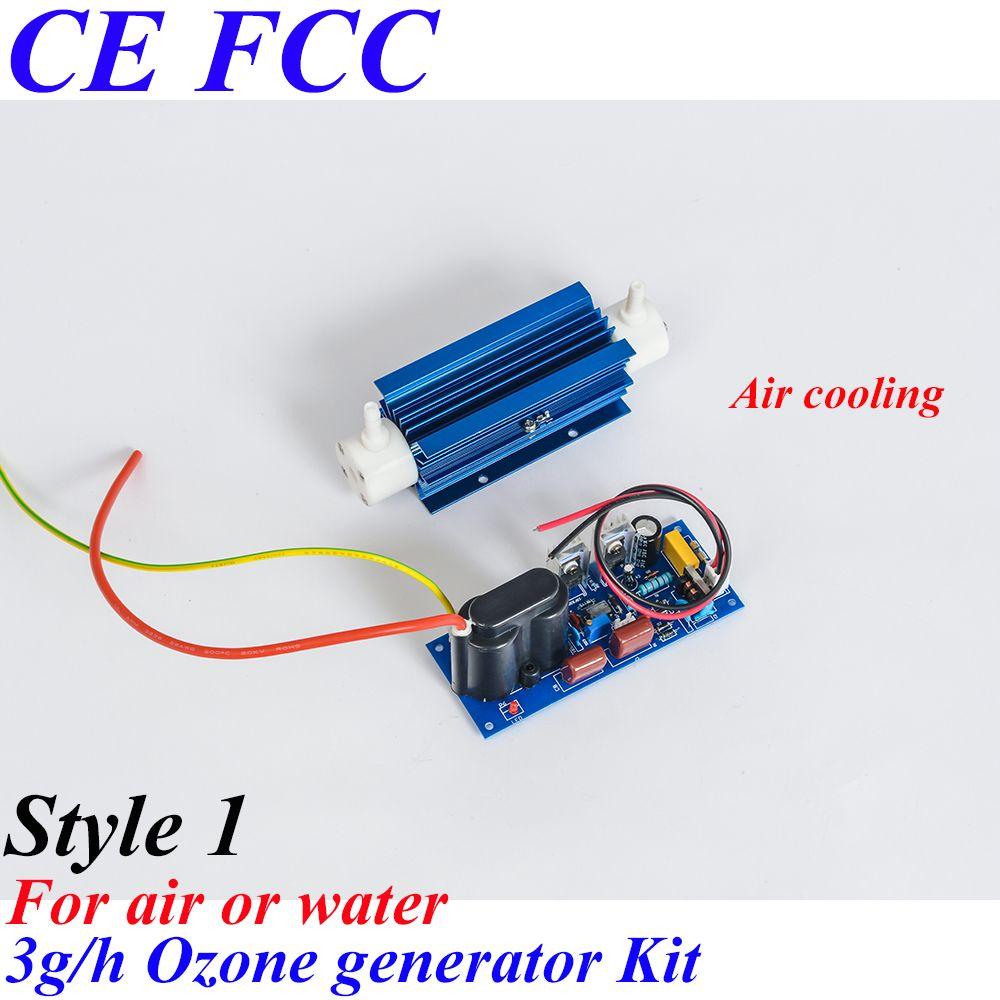 Pinuslongaeva CE EMC LVD FCC 3g/h Quartz tube type ozone generator Kit for air or water treatment