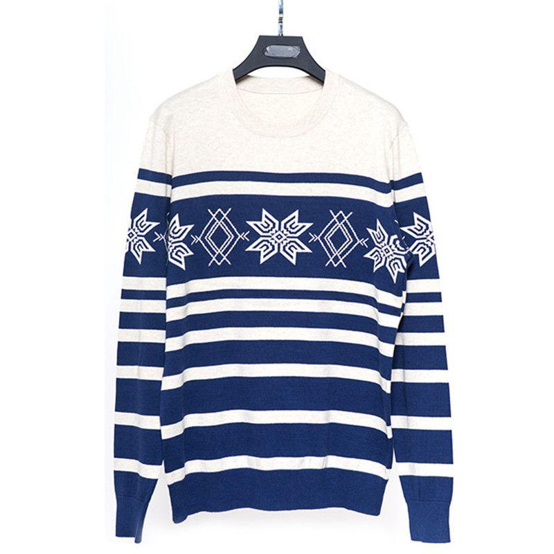 2018 neu kommen marke kleidung Lässige gestreiften herren pullover Pullover langarm dünne oansatz stein Pullover mit deer