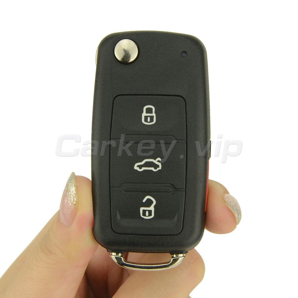 Remotekey 5K0837202R 3 taste mit panic 315 Mhz Flip auto remote key für VW Volkswagen Beetle Passat Jetta Tiguan GTI touareg