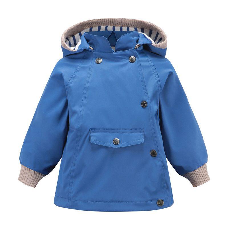 Kids Jacket Coat 2019 Spring Autumn Boys Jacket Windproof Waterproof Outdoor Coat Hooded Design Solid Color For 2-8 years boy