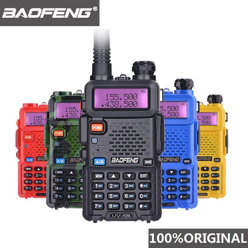 100% Original Baofeng UV-5R Walkie Talkie Dual Band Professional 5W UV 5R Ham Two Way Radio UV5R Handheld Hunting HF Transceiver