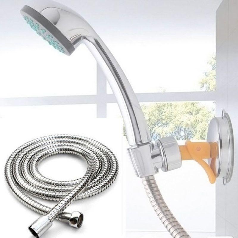 2 Mt Flexible Brauseschlauch Edelstahl Chrom-badezimmer-zusatzheizung Wasserkopfrohr Chrom Für Dusche Werkzeuge