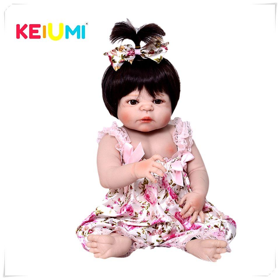 Lifelike 23''Doll Reborn Babies Full Silicone Vinyl Body Reborn Dolls Princess Children Playmates Baby Toys Girl Fashion Gifts